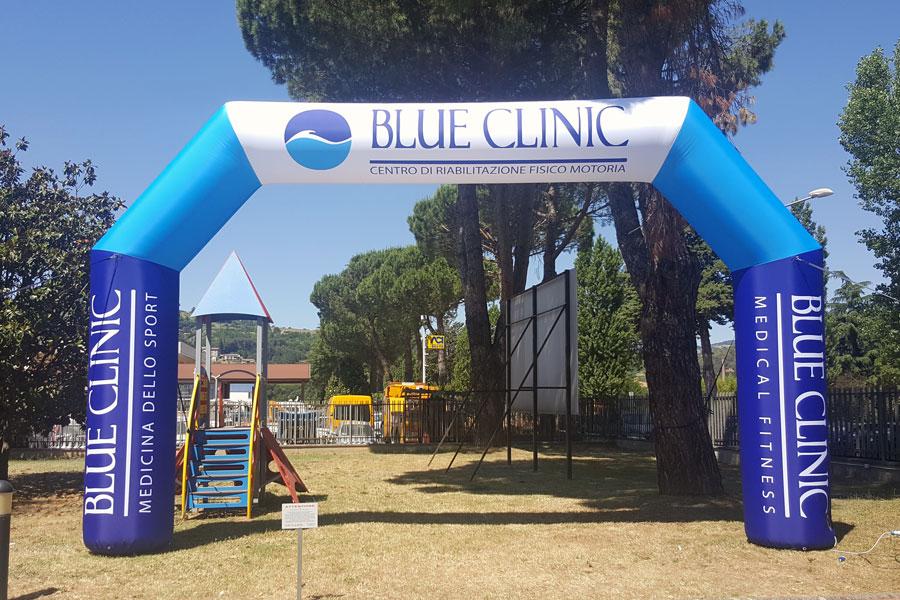 Arco Gonfiabile Blue Clinic  - grafica fissa