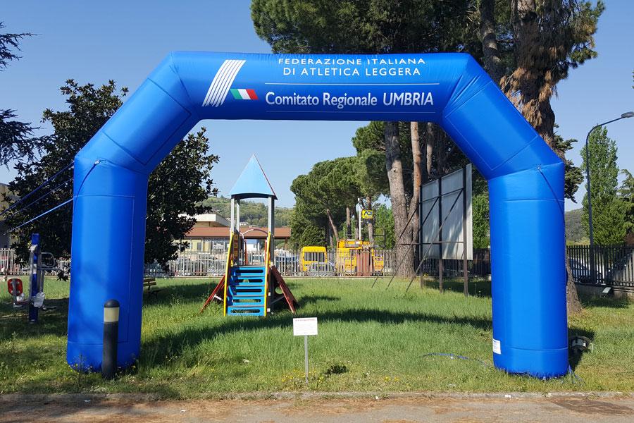 Arco Gonfiabile Federazione Italiana di Atletica Leggera - grafica fissa + banner rimovibili