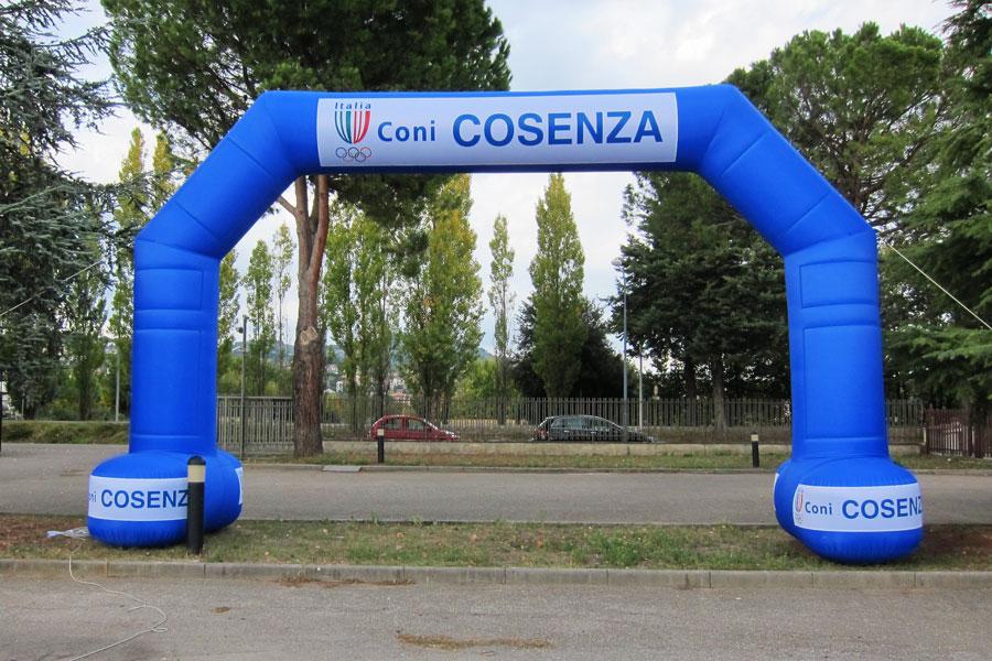 Arco Gonfiabile Con Basi Autoportanti - mt 9x5h - banner rimovibili