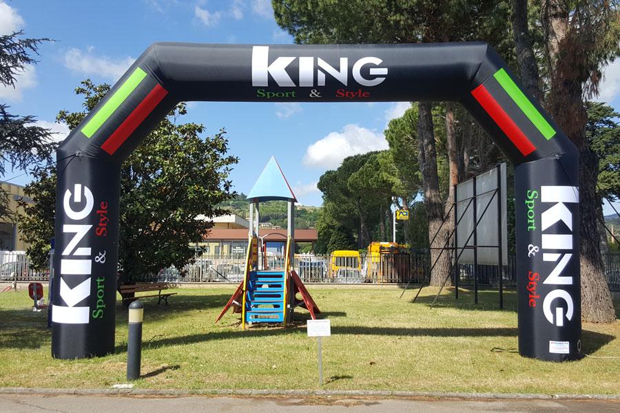 Arco Gonfiabile King- grafica fissa