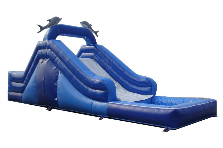 Scivolo con piscina basic gonfiabili tes - Piscina al coperto con scivoli ...