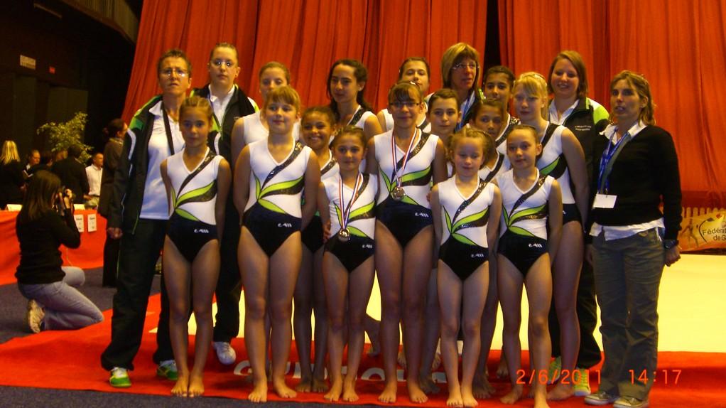 NOTRE BELLE EQUIPE AUX CHAMPIONNATS DE FRANCE 2011