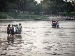 Mexiko, Flüchtlinge, Menschen, Fluss