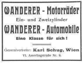 Quelle: Österr. Nationalbibliothek, Allgemeine Automobil-Zeitung, 02.08.1914
