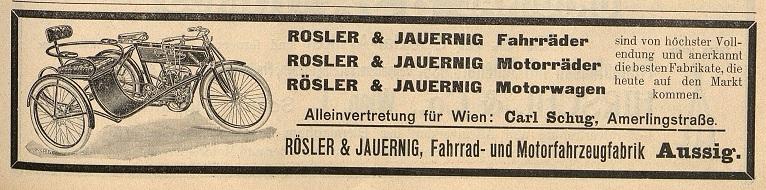 Quelle: Österr. Nationalbibliothek, Österr. Fahrrad- und Automobil-Zeitung Fr, 10. August 1906