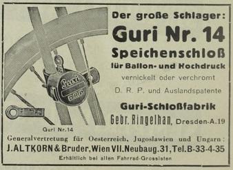 Quelle: Österr. Nähmaschinen- u. Fahrrad-Zeitung, Do, 10. März 1938