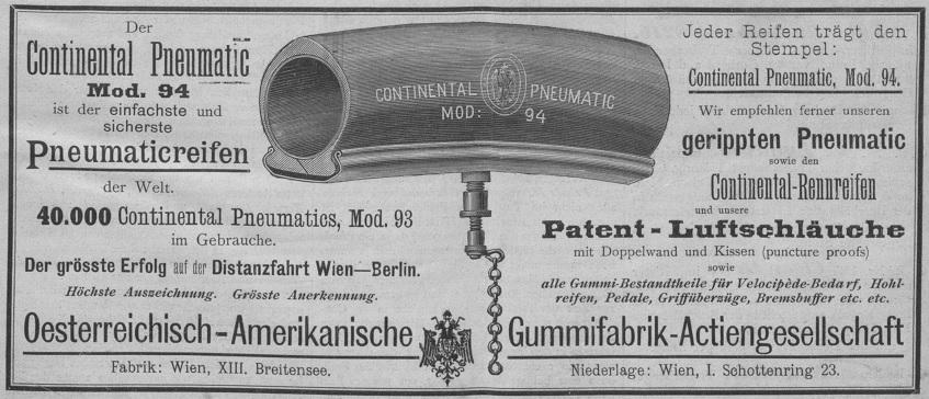 Quelle: Österreichische Nationalbibliothek, Allgemeine Sport-Zeitung, 1894, Titelblatt