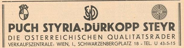 Quelle: Österr. Nationalbibliothek, Der Radfahrer, 5. Mai 1933