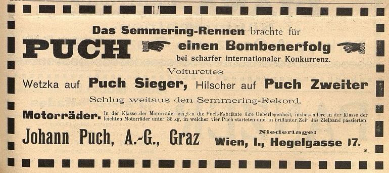 Österr. Fahrrad- und Automobil-Zeitung, 25. September 1907