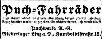 Quelle: Österr. Nationalbibliothek, Tagblatt, 1. Mai 1920