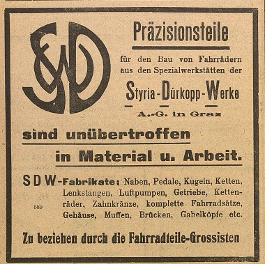 Quelle: Österr. Nationalbibliothek, Österr. Fahrrad- und Automobil-Zeitung, 25. Oktober 1911