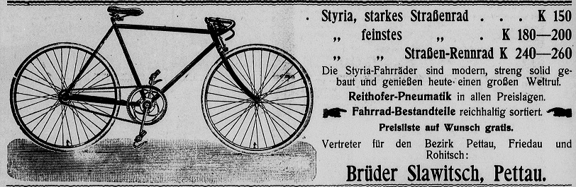 Quelle: Österr. Nationalbibliothek, Pettauer Anzeiger, 14. Mai 1911