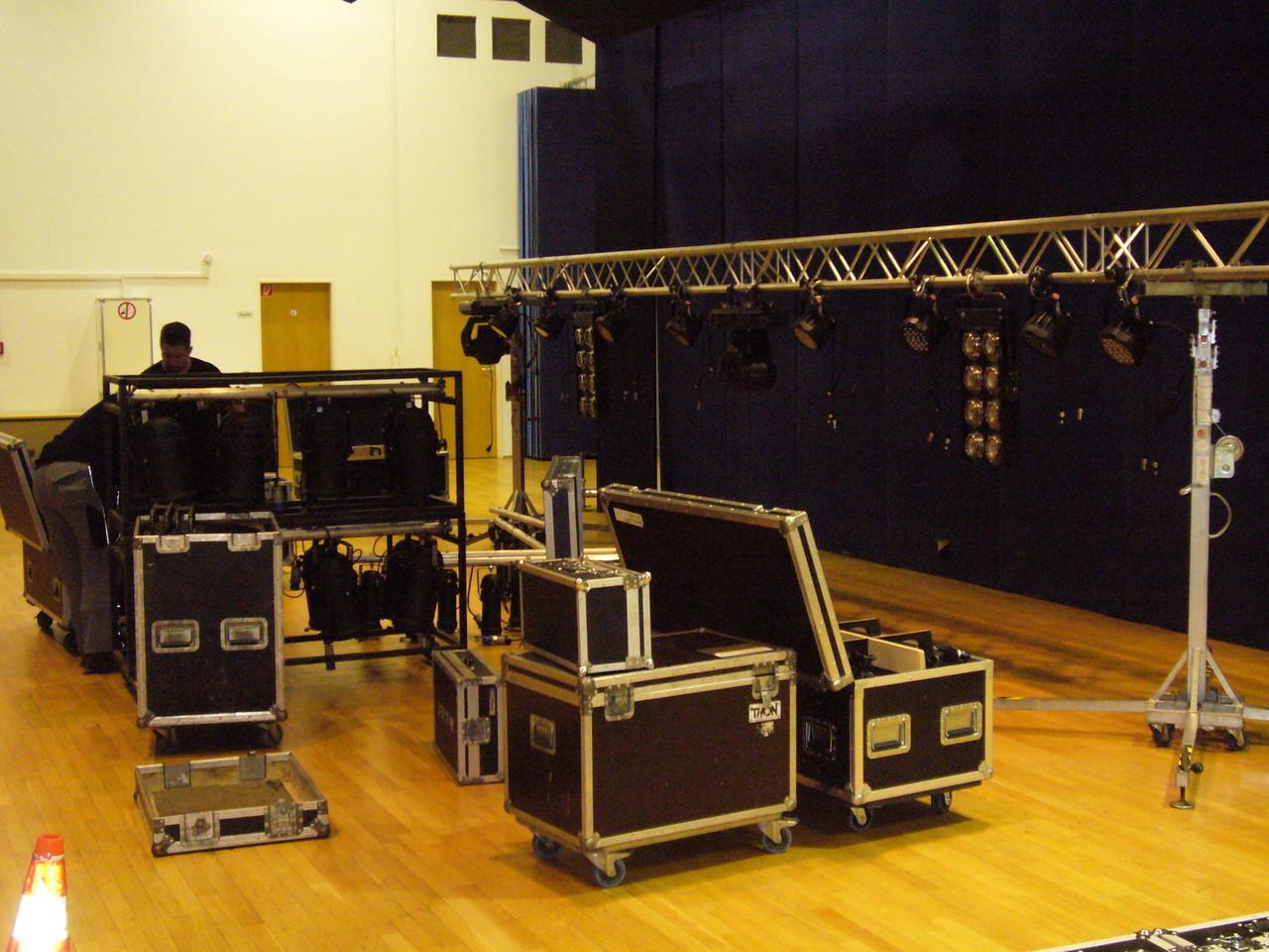 Der Bühnenaufbau - sehr professionell!