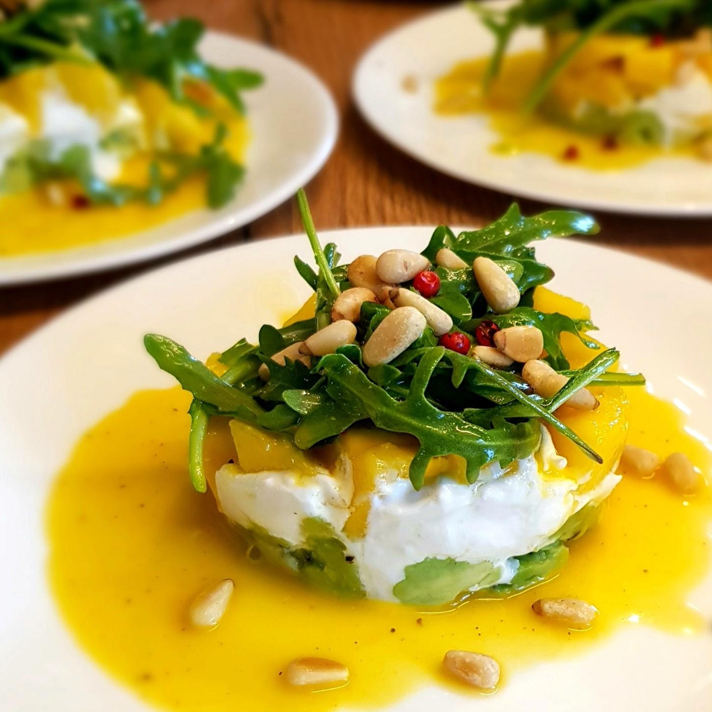 Mango-Mozarella-Rucola-Salat