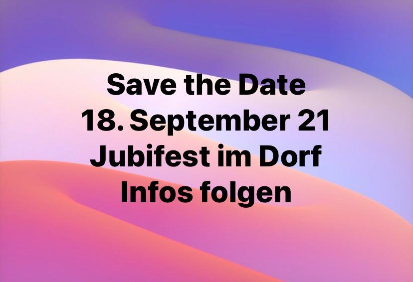 Jubifest im Dorf / 18. September 2021