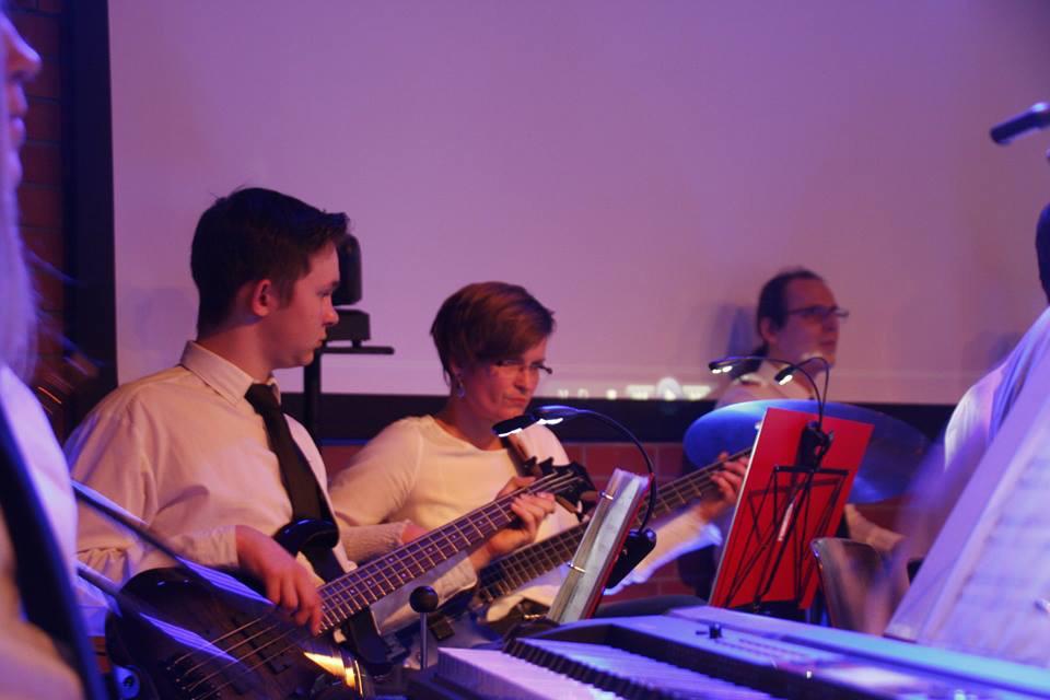 Die Musiker im Orchester