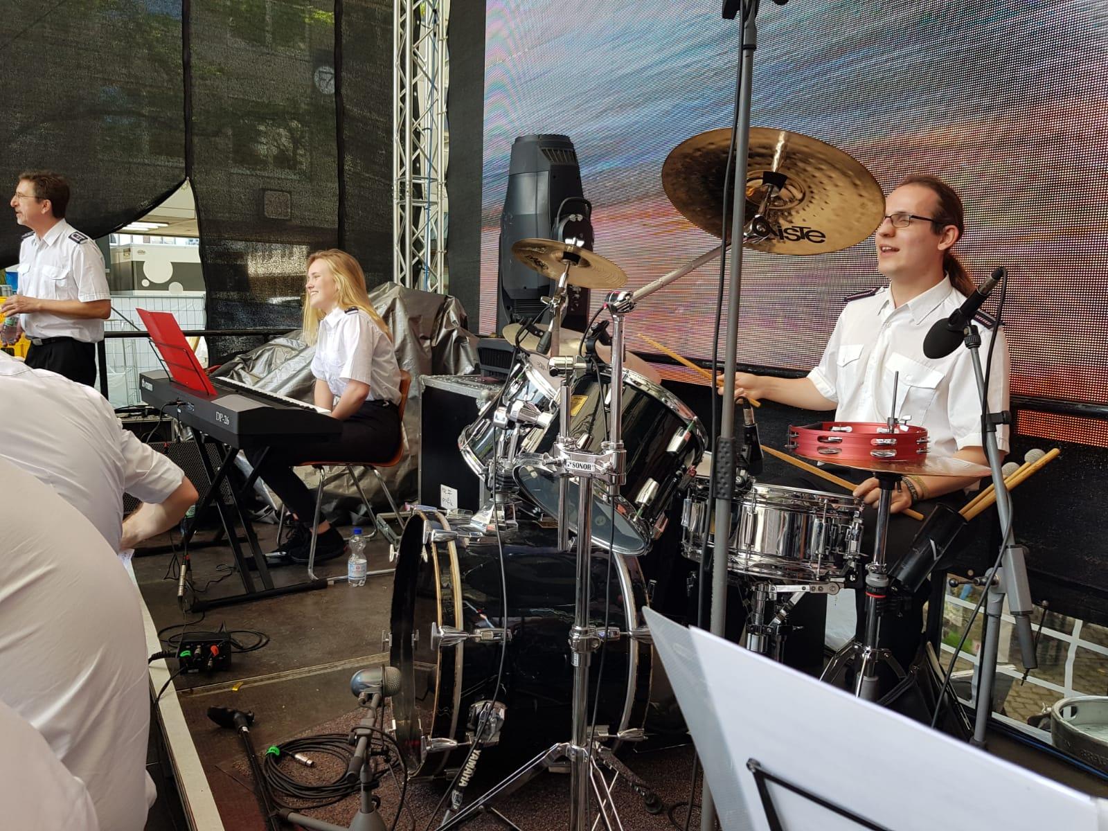 Unser Schlagzeuger in Action