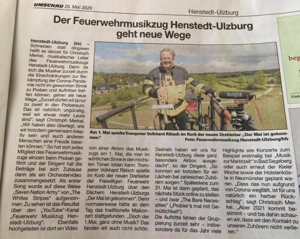 Artikel / Presse Umschau Henstedt-Ulzburg über das Blasorchester