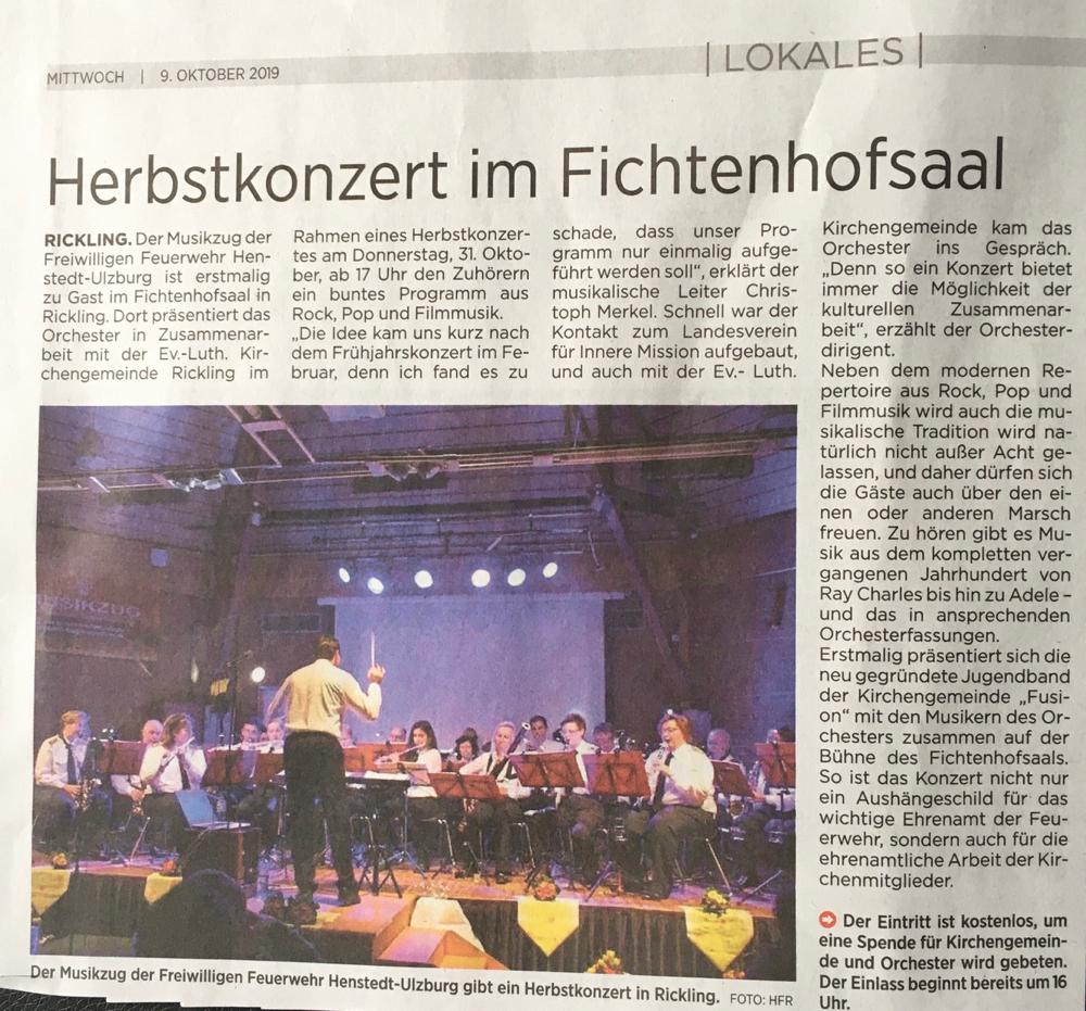 Herbstkonzert Orchester Henstedt-Ulzburg