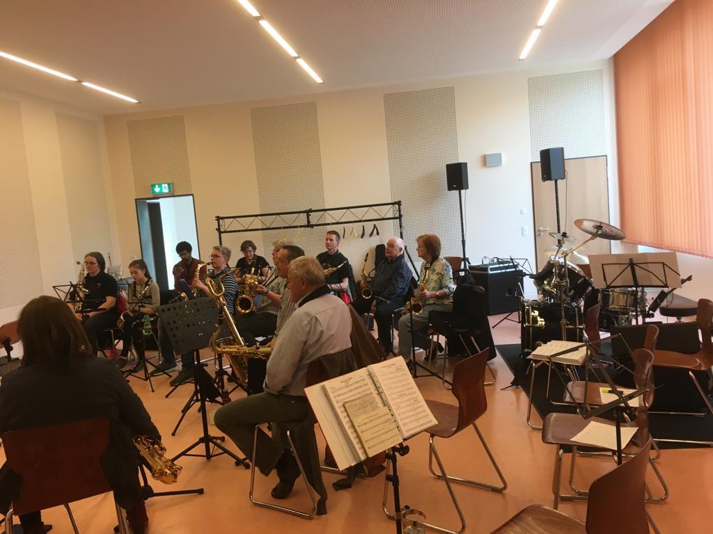 Bei unserem Workshop lernte man Alles rund um das Saxophon