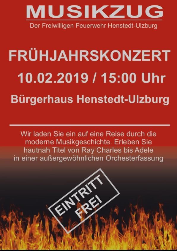 Plakat für das Frühjahrskonzert in Henstedt-Ulzburg