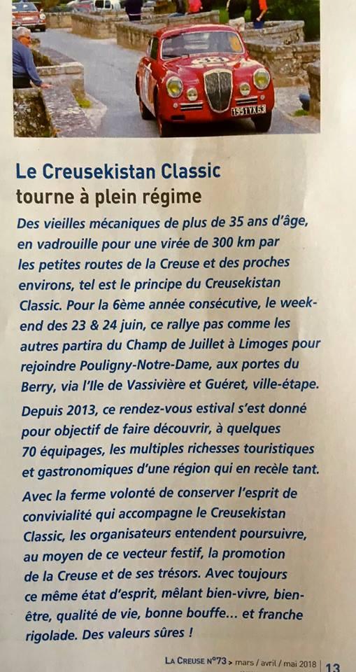 """Extrait de """"La Creuse"""" n° 73 (mars/avril/mai 2018), le magazine édité par le Conseil départemental."""