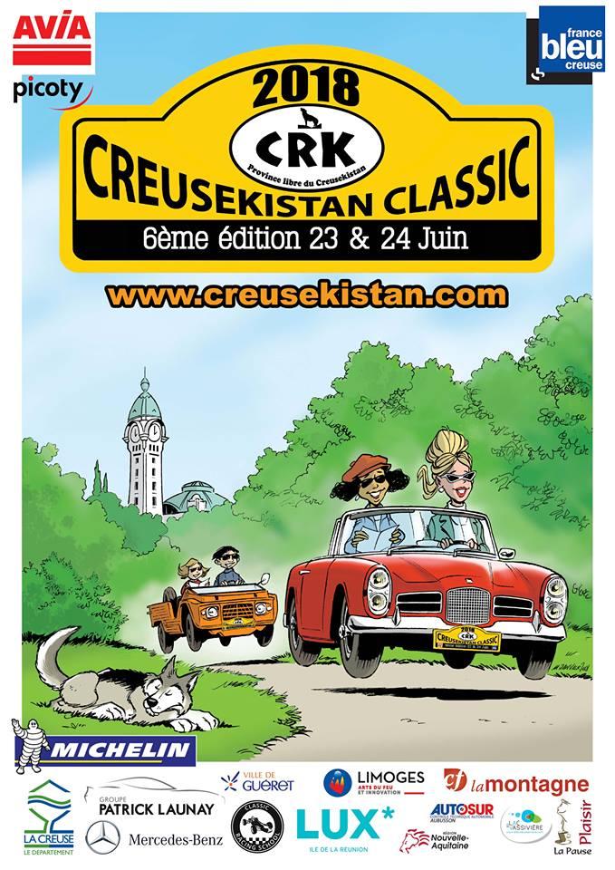 L'affiche officielle du Creusekistan Classic 2018 et ses sponsors signée Michel Janvier.