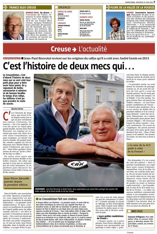 La Montagne, édition du mercredi 22 juin 2016.