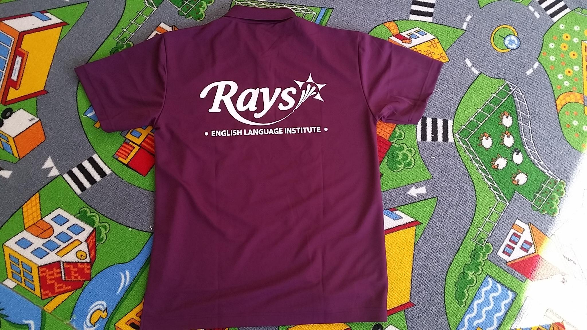 Rays講師のユニフォームです。見かけたら声をかけてくださいね!