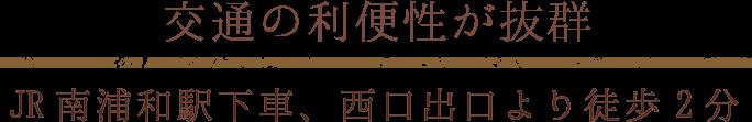 宝性寺はJR南浦和駅下車、西口出口より徒歩2分