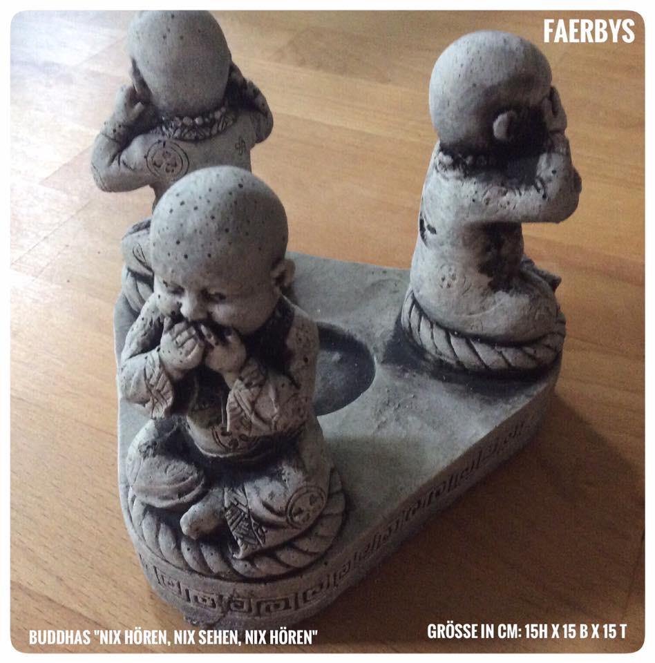 Buddha drei Weisen als Teelicht