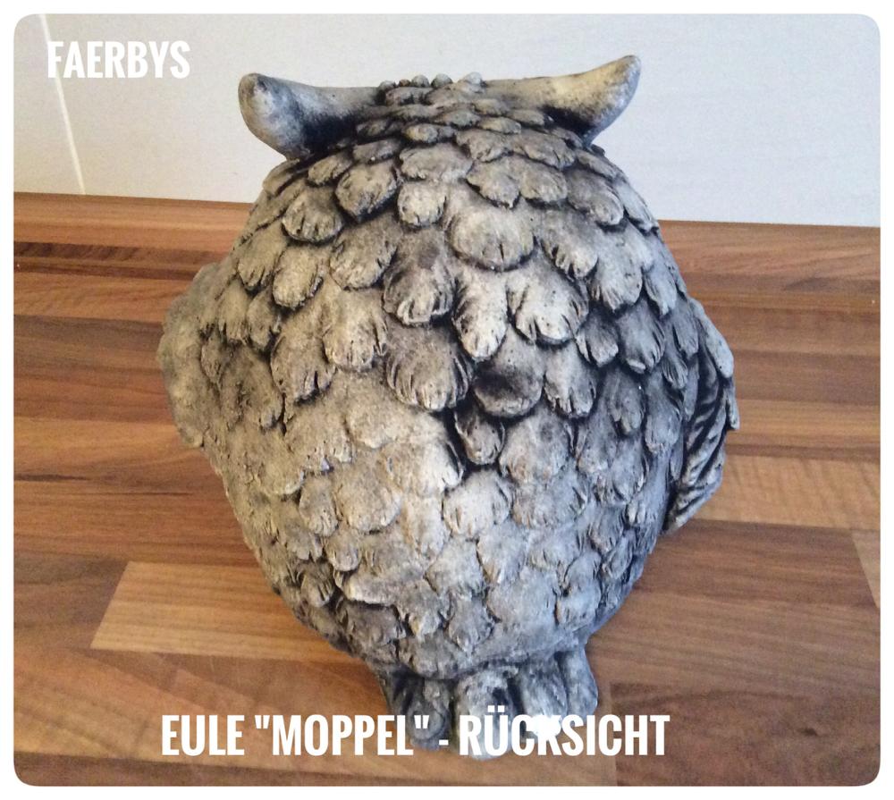 Latexform Eule Moppel - gegossen in Steinguss und schwarz patiniert