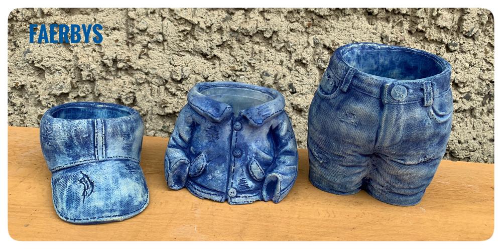 #Pflanzschalen #Jeanshose #jeansjacke #basecape  #betonformen