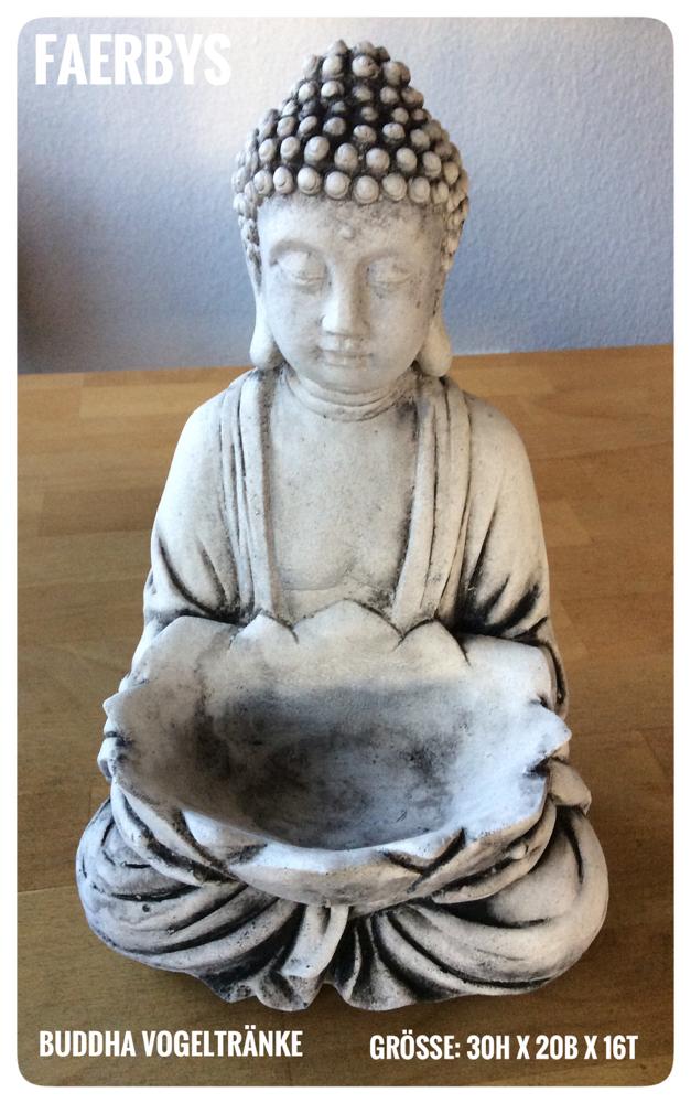 Buddha mit Vogeltränke - Latexform