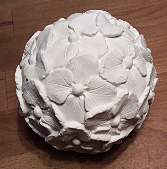 Hortensien Kugel gegossen aus Latexform 12 cm Durchmesser
