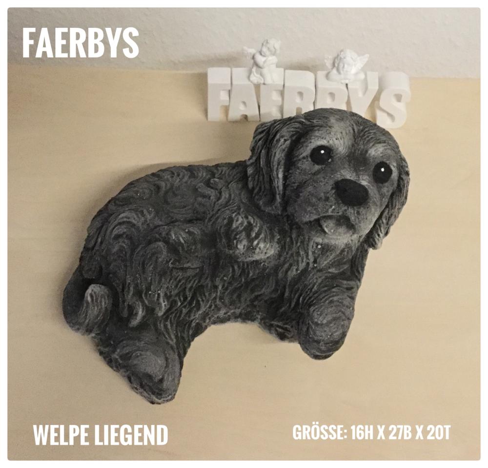 Hund - Welpe liegend  #Latexform