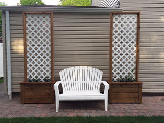 pair of mobile trellis on casters