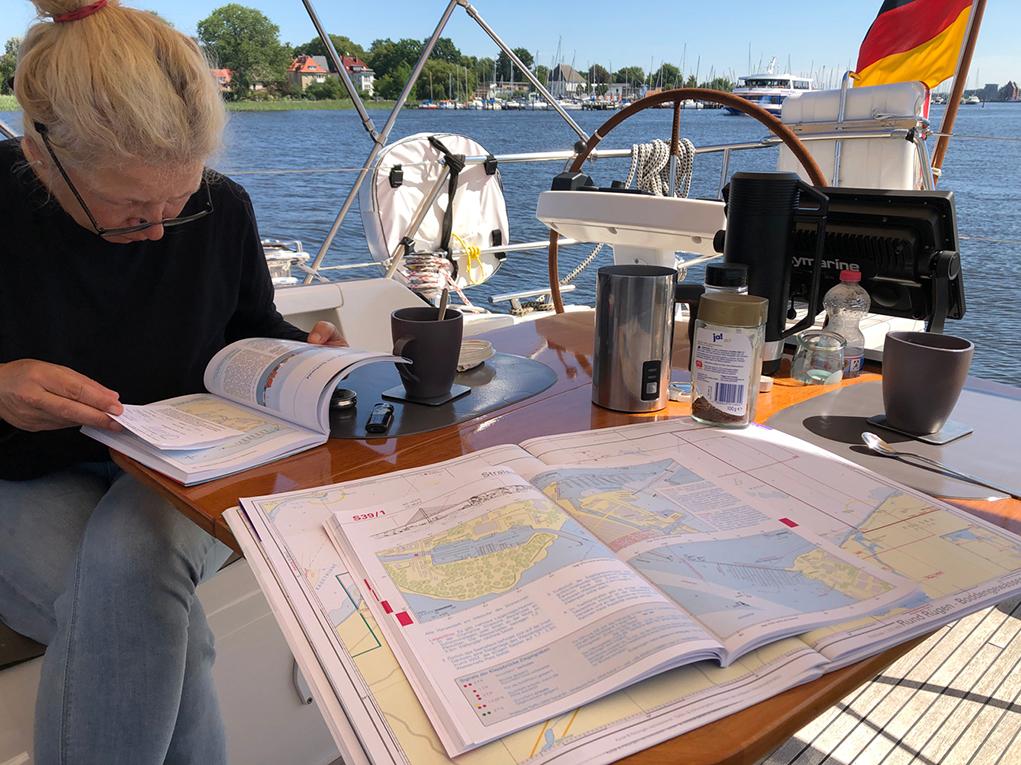 Törnplanung für die 62 sm nach Stralsund.