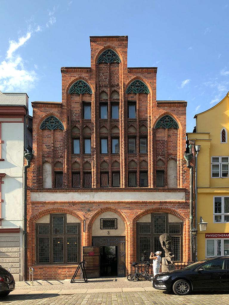 Eines der ältesten Häuser in Stralsund.