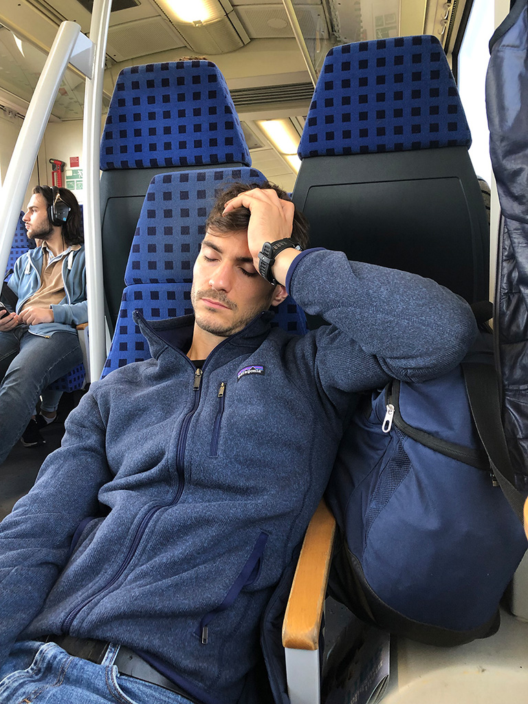 Zugfahrt von München HBF nach Großenbrode - mit 2x Umsteigen. Das macht müde