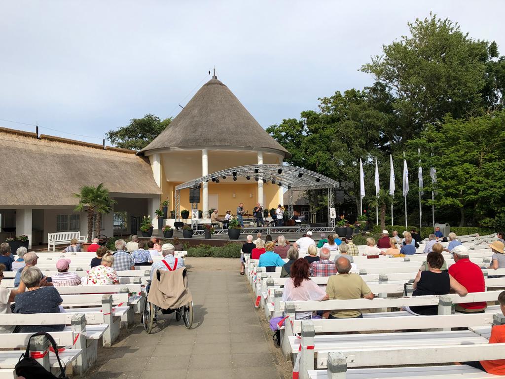 Konzert im Kurpark von Kühlungsborn. Sauguter Jazz wurde hier gespielt!