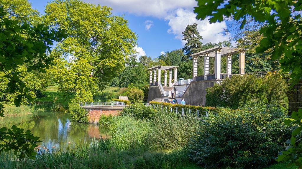 Ehemalige Pergola im Schlosspark von Putbus.
