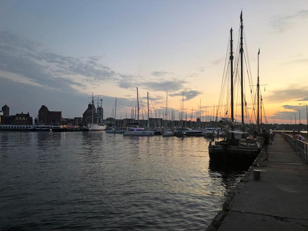 Abend über Stralsund.