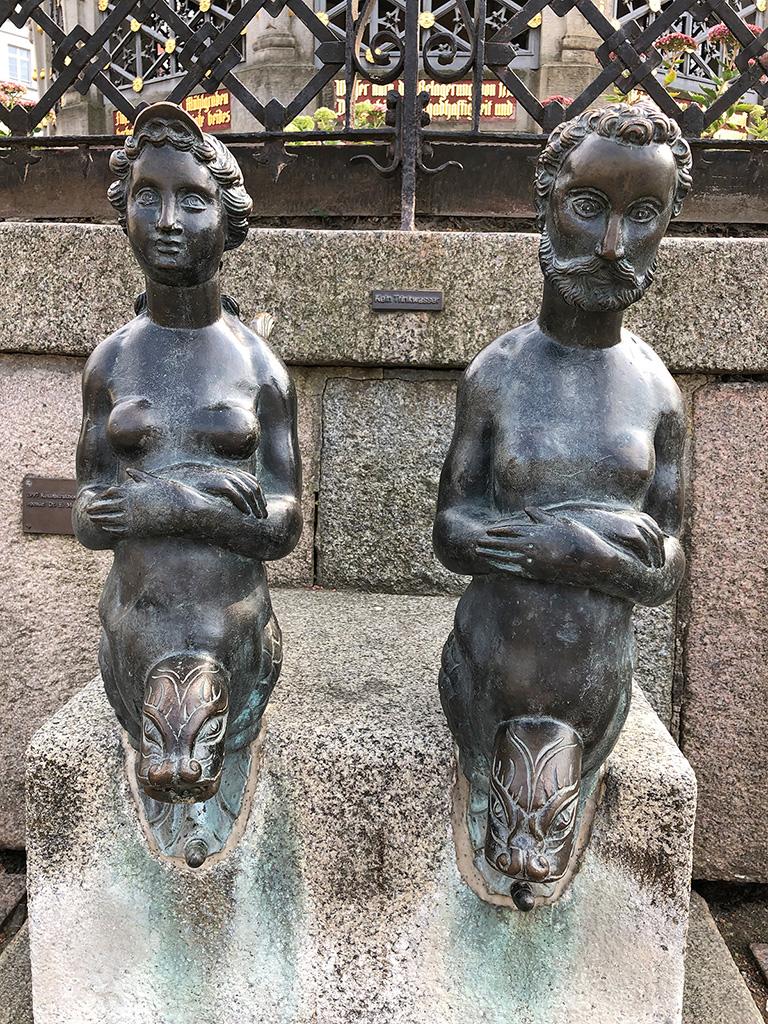 """Brunnenfiguren des historischen """"Wasserwerks"""" von Wismar"""
