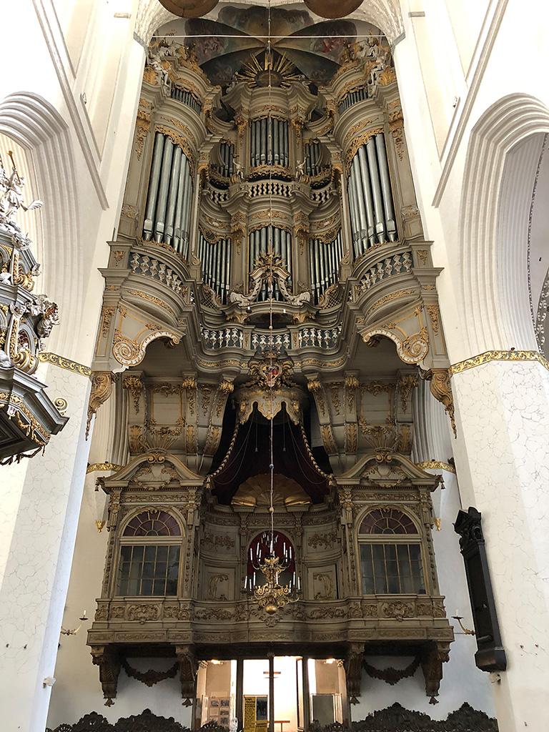 Die riesige Orgel der Marienkirche - beeindruckend