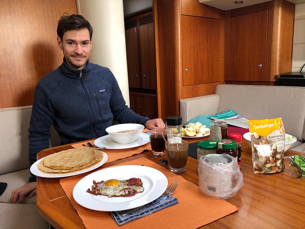 Leckeres Frühstück am Morgen