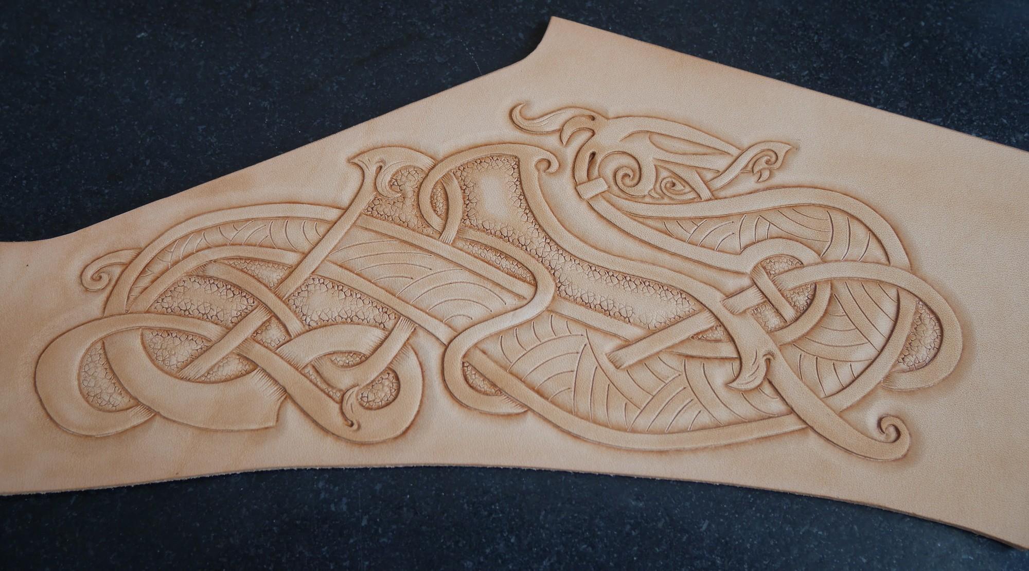 Repoussage dragon celte