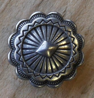 Concho pour cuir bouton 19 mm