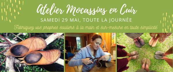 Atelier fabrication de mocassins en cuir