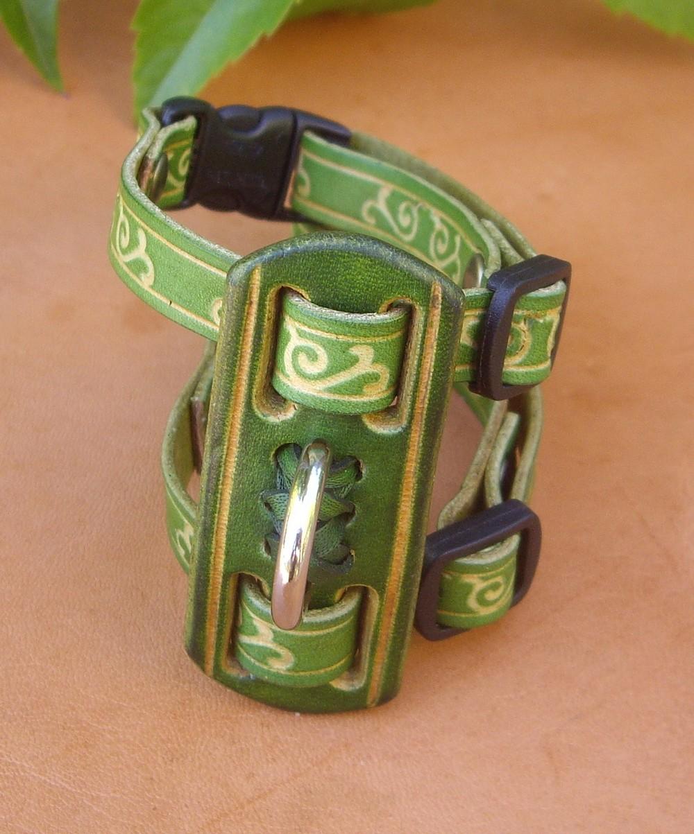 Harnais pour furet celtic vert